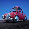 Red Cartoon Car