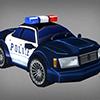 Toon Police Car